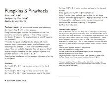 Pumpkins & Pinwheels pattern Correction