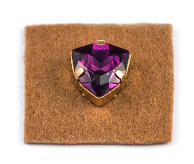 Мастер-классы: МК Вышитые серьги Королевский пурпур