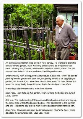 FBI agents dig garden for old man