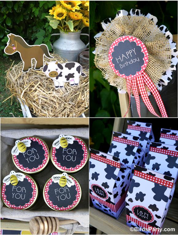 Farm and Barnyard Birthday Party Favors