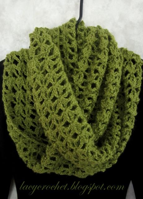 Lacy Crochet Lacy Infinity Scarf My Free Crochet Pattern
