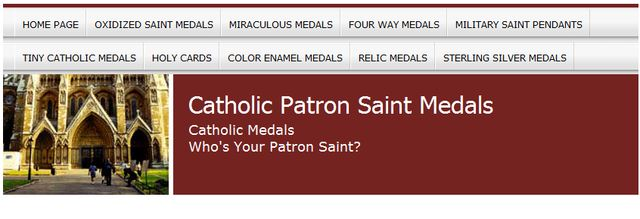 Catholic Patron Saint Medals.com - Choice of Patrons