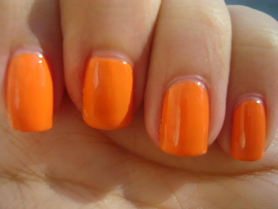 I Bleed Polish: Day 2 - Orange Nails