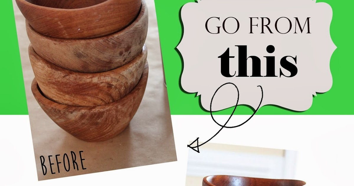 How to Refinish Wood Bowls
