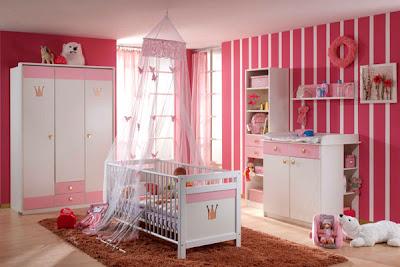 Habitaci n de beb color rosa dormitorios con estilo for Decoracion habitacion nina gris y rosa