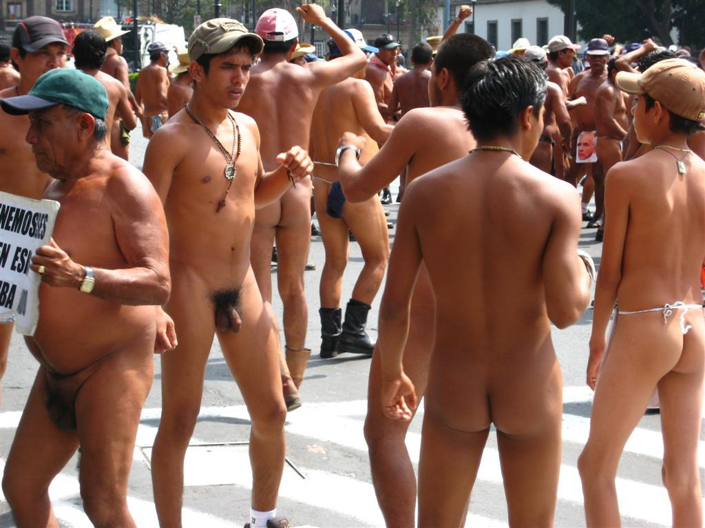 Barefoot Men Some Hot Naked Posing And Playing In Public