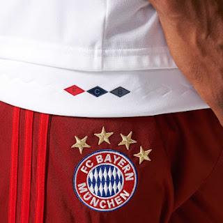 Detail Lambang jersey Bayern Munchen away Official terbaru musim depan 2015/2016