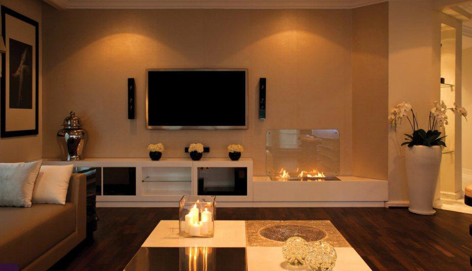 Idee Arredamento Soggiorno Moderno : Living Room with Fireplace Ideas