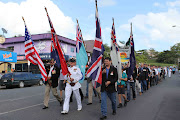 Whitsunday locals turned out en masse for the various events of Anzac Day, . (parade )