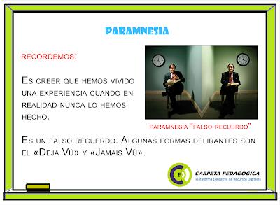 Pizarra: Definición de Paramnesia