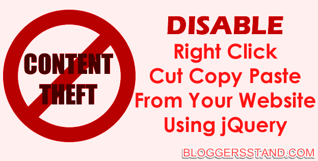 How to Disable Right Click In Blogger Using Jquery Trick