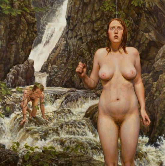 Susannah Martin pinturas nudez na natureza naturismo mulheres peladas