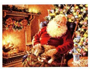 christmas santa sleep art
