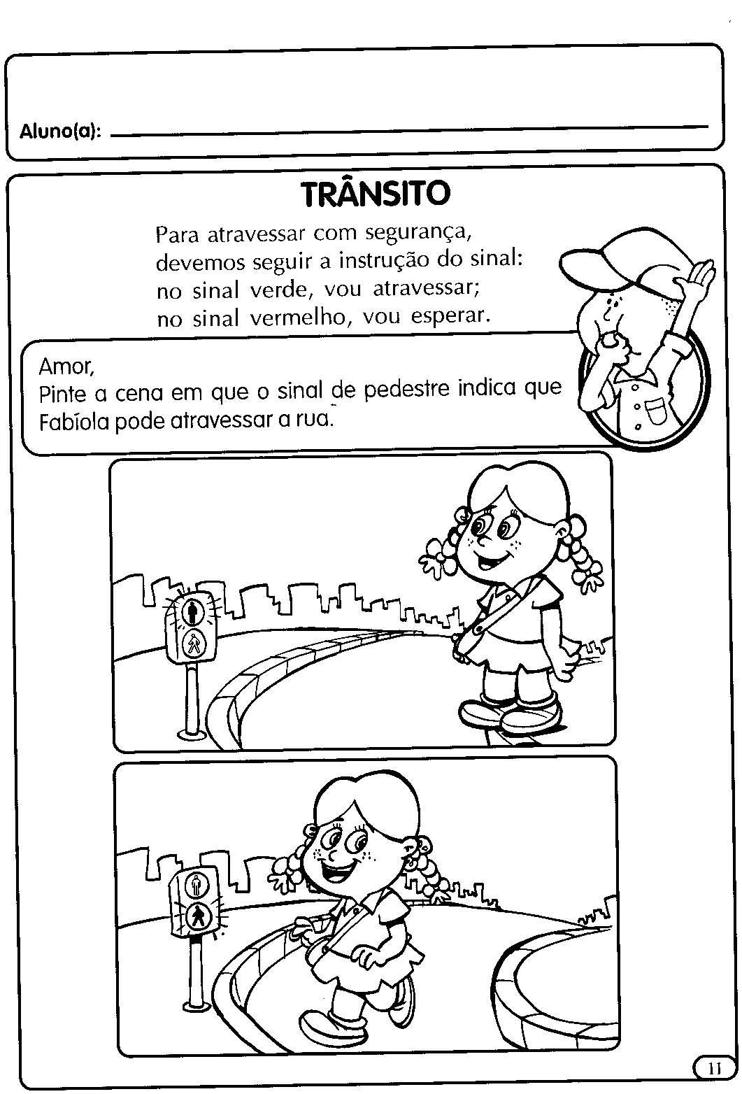 Preferência Blog Professor Zezinho : Atividades sobre trânsito, faixa de  LS09