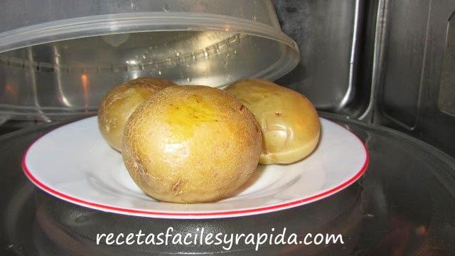 cocer patatas en microondas