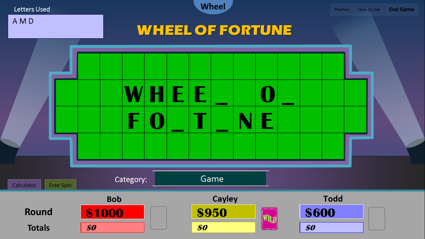 game family fortunes powerpoint presentation