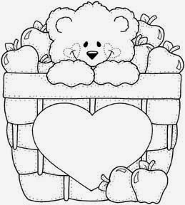 Desenhos de ursinhos fofos e cutes para colorir pintar e  - imagens para colorir de ursinhos fofos