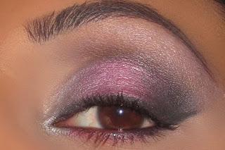 mac, eyeshadow, girlie, pink, silver, electra, carbon, smokey, blog, look, brun, gesso, tutorial