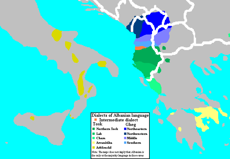 Albanian language dialects