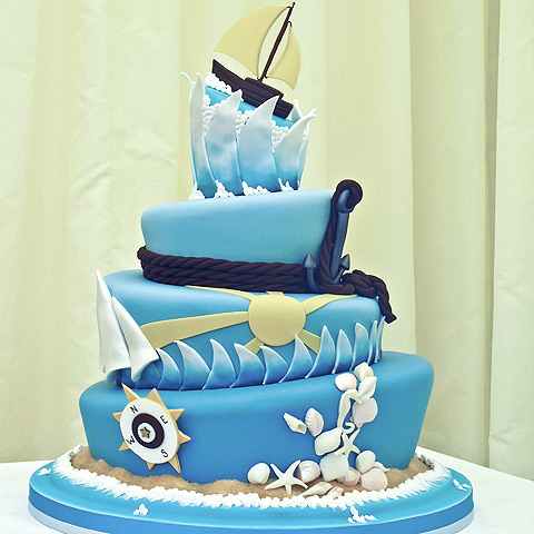 1000  ideas about Sailor Cake on Pinterest | Sea Cakes, Cakes and ...