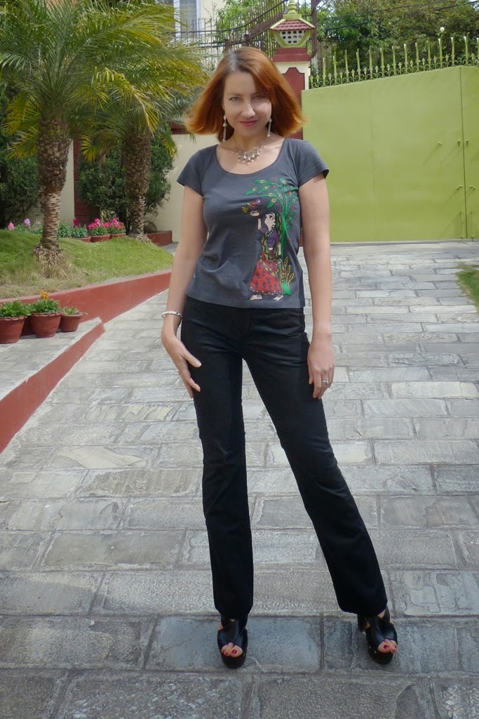 Madhubani style print t-shirt