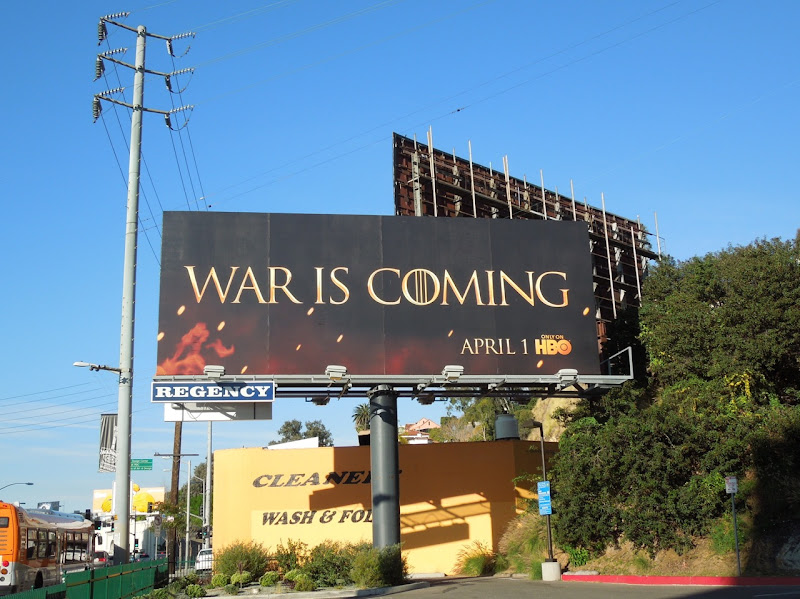 Game of Thrones season 2 TV billboard