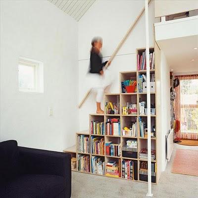 M nica dise os c mo hacemos cubos multiusos - Escalera de biblioteca ...