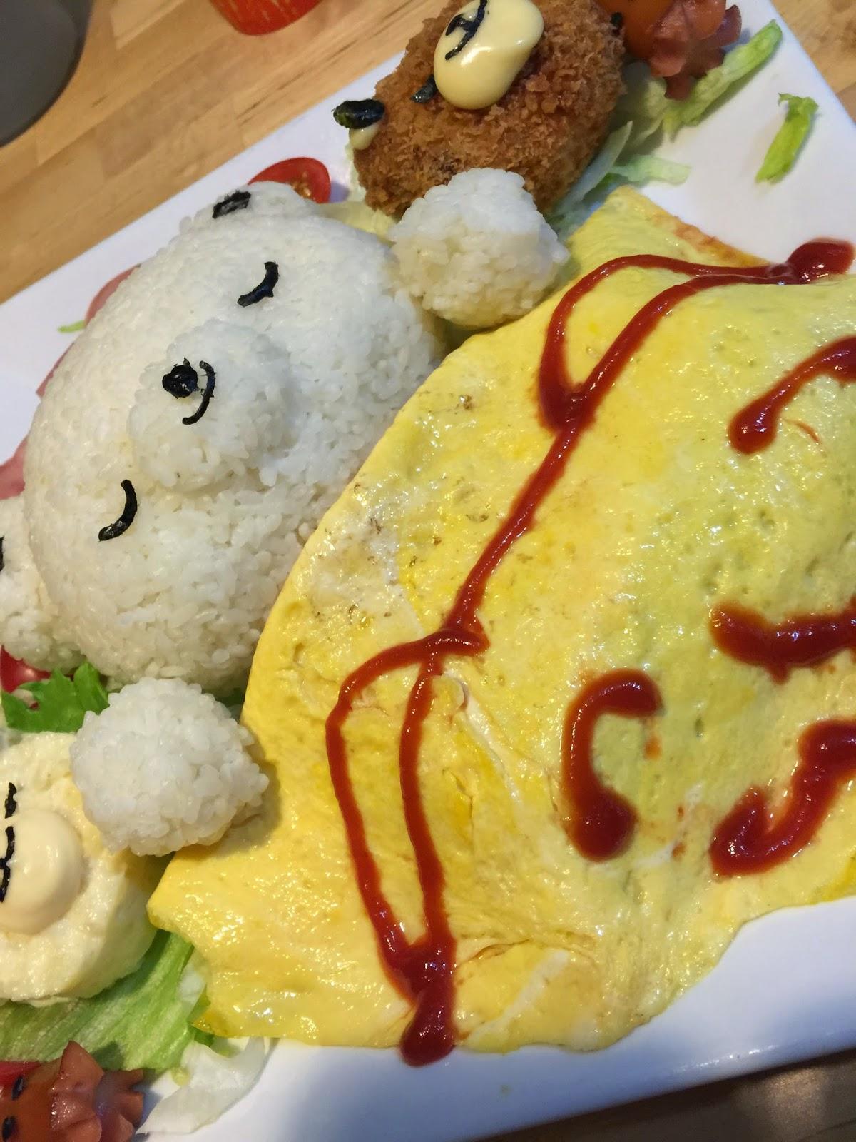 九龍 旺角 J-Point CAFE 全日點喫茶店 大人的兒童餐 甜睡的小熊家族 飯 薯餅 蛋沙津