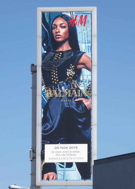 H&M Balmain FW15 billboard