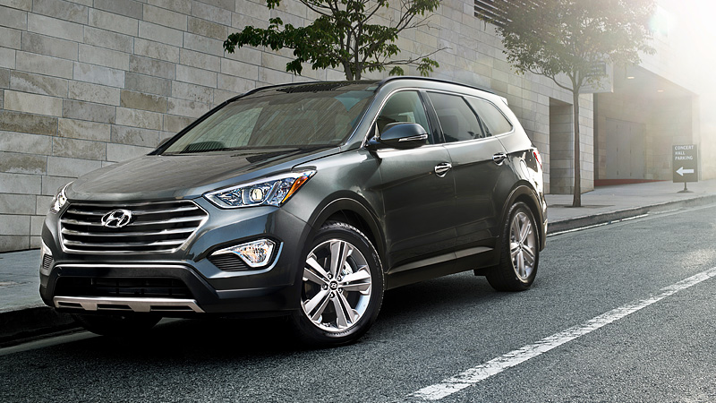hyundai monday 2013 santa fe with 3rd row. Black Bedroom Furniture Sets. Home Design Ideas