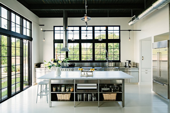 industrial loft in portland oregon my paradissi On kitchen library portland