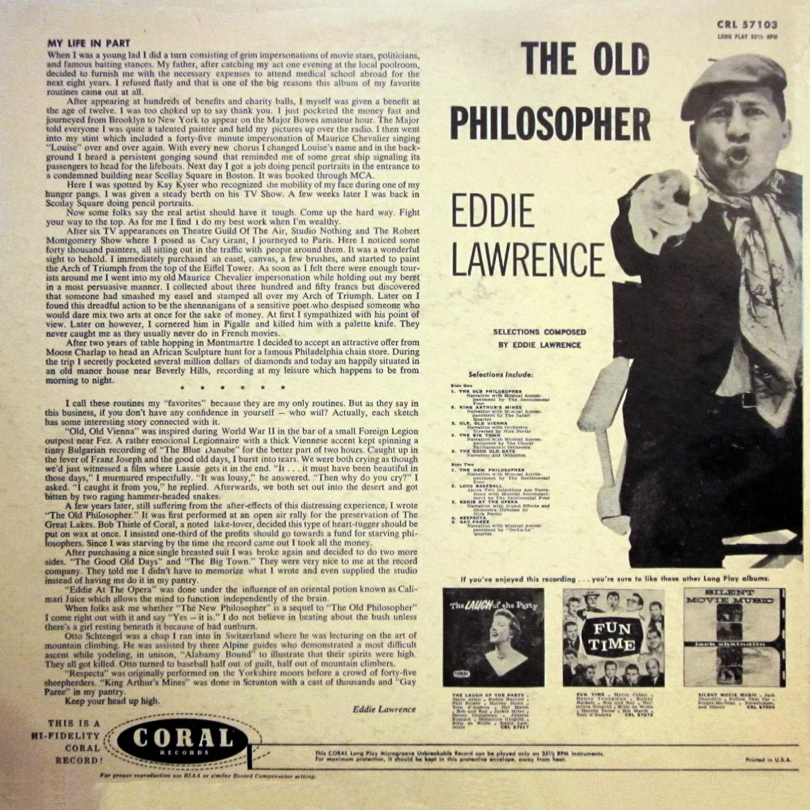 Eddie Lawrence | Discography & Songs | Discogs