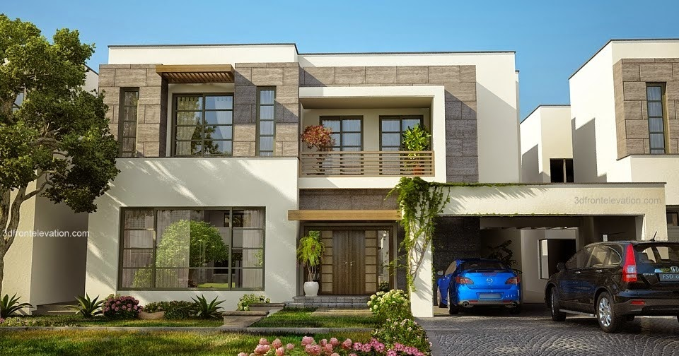 3D Front Elevation.com: Modern House Plans & House Designs ...