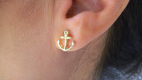 Gold Anchor Earrings2