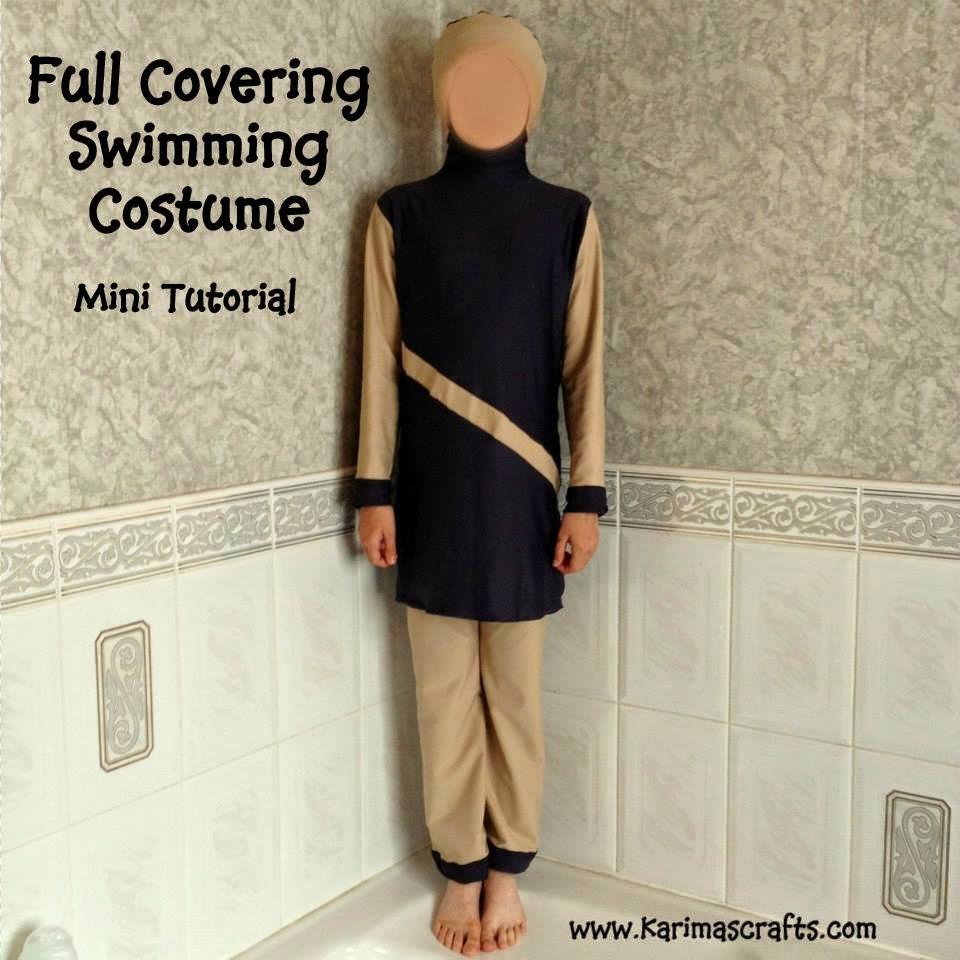 full covering swimming costume burkini muslim tutorial