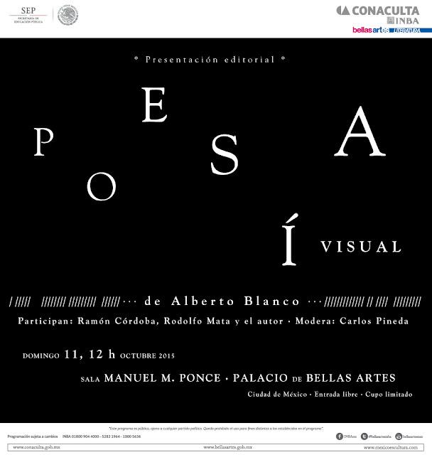 """Presentan antología """"Poesía visual"""" de Alberto Blanco en el Palacio de Bellas Artes"""
