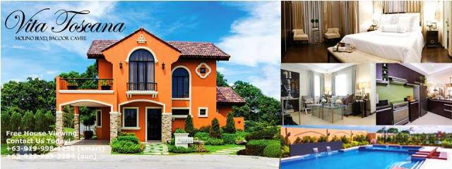 House For Sale In Vita Toscana Crown Asia Bacoor Cavite