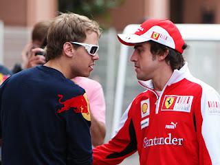 Sebastian Vettel Fernando Alonso 2012