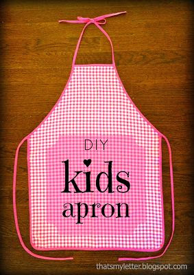 DIY Kid's Apron (Simple Sewing)