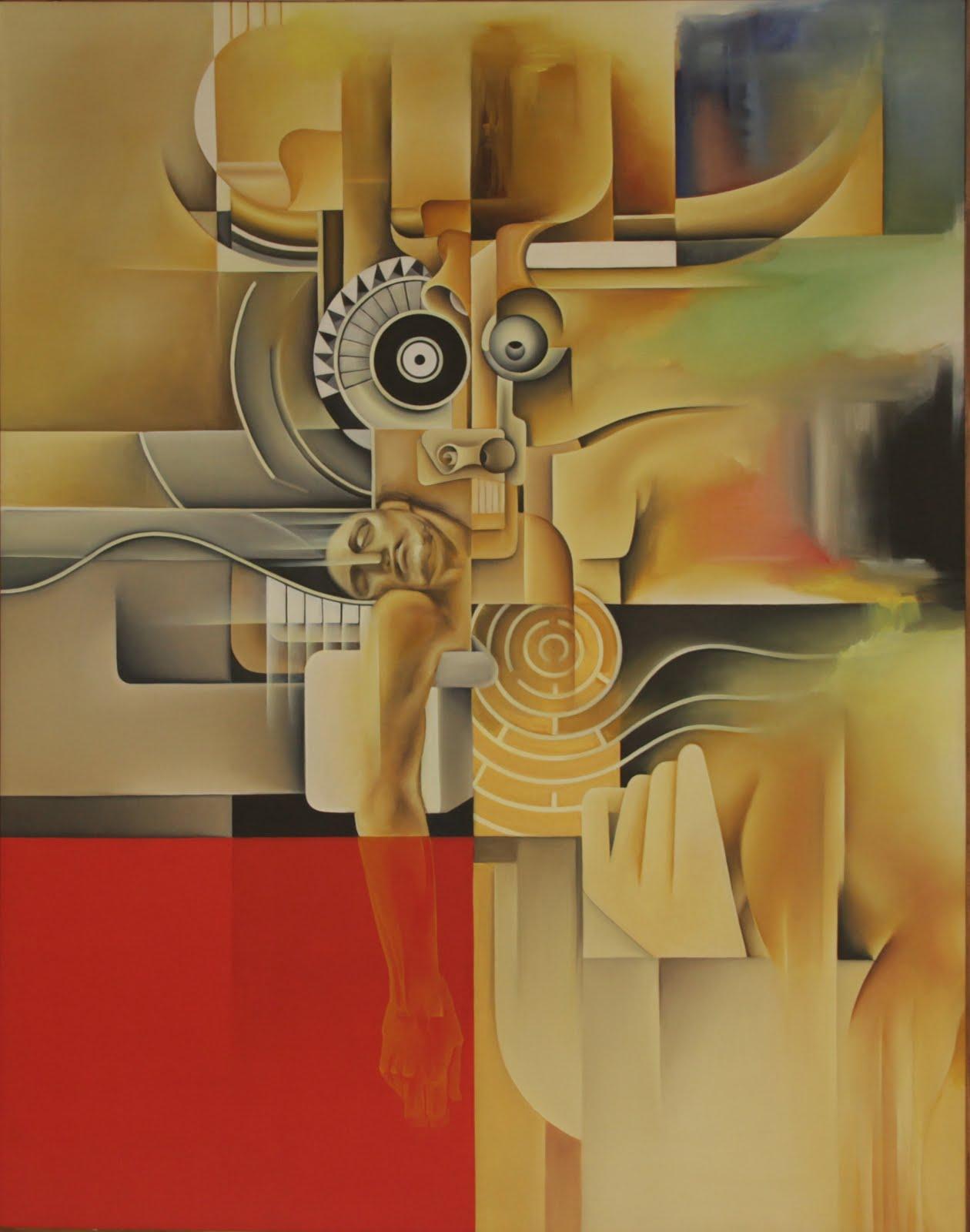 Solange Alves, Abandono de Um Ideal,  óleo sobre tela, 110x140 cm.