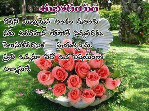 Telugu Photo Messages   Mobiles Picture messages   Telugu Quotes: Good ...