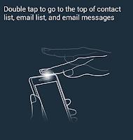 Cara menggunakan fitur Tap to top