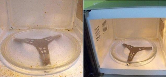 وصفة سهلة جدا وبسيطة لتنظيف المايكرويف فى خمس دقائق فقط