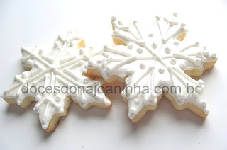 Cookie decorado floco de neve