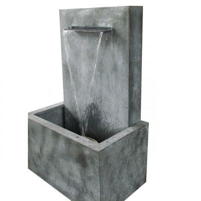 Fontaine de jardin en zinc zen lame d 39 eau fontaine de jardin for Fontaine de jardin zinc