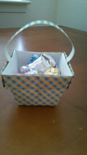 easter gifts: origami basket video tutorial