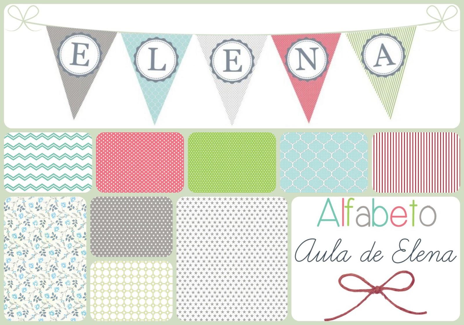 Alfabeto en forma de banderines - Aula de Elena