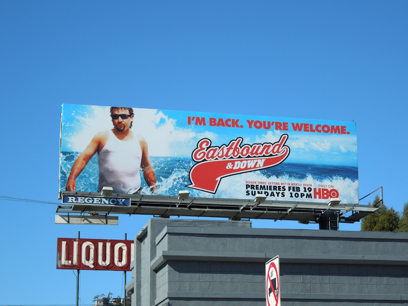 Eastbound and Down season 3 billboard