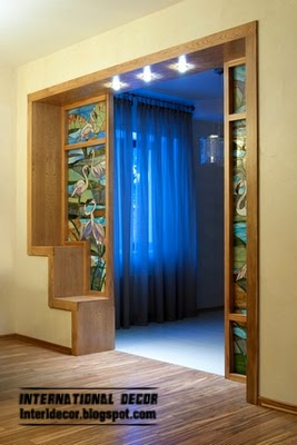 stained glass partition, stained glass in the interior