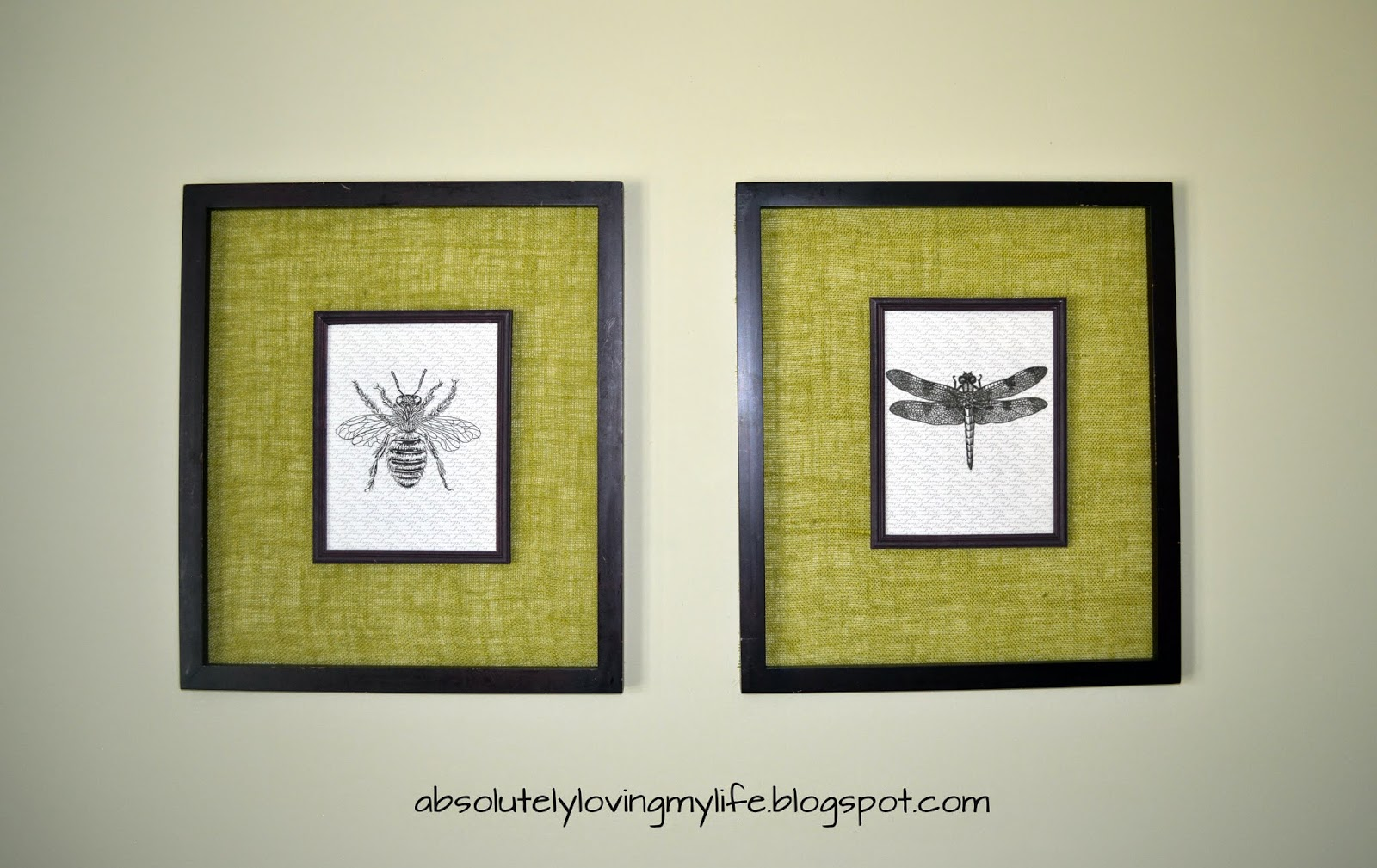 Loving Life: DIY Vintage Insect Wall Art